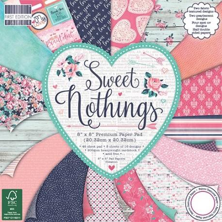 Sweet Nothings 30x30 de First Edition para scrapbook distribuido por Artesanías Montejo
