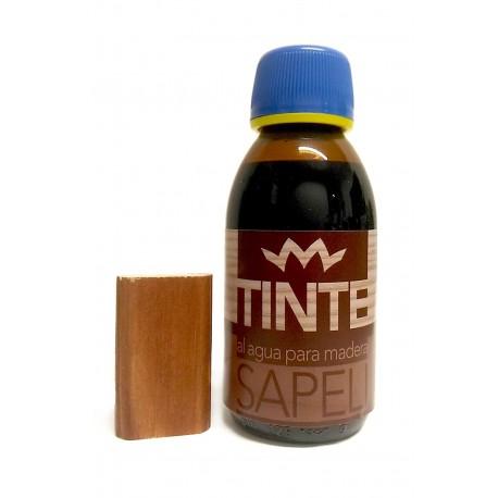 Tinte al agua para madera SAPELI distribuido por Artesanías Montejo