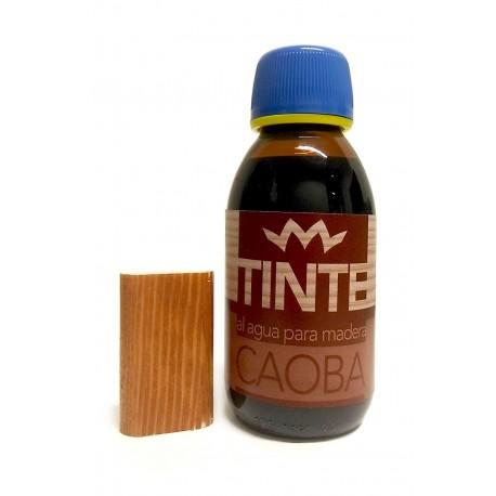 Tinte al agua para madera CAOBA distribuido por Artesanías Montejo
