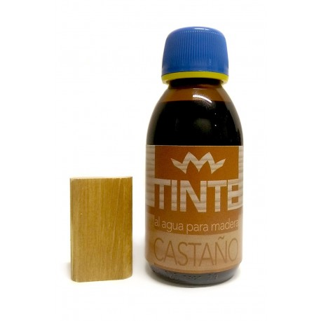 Tinte al agua para madera CASTAÑO distribuido por Artesanías Montejo
