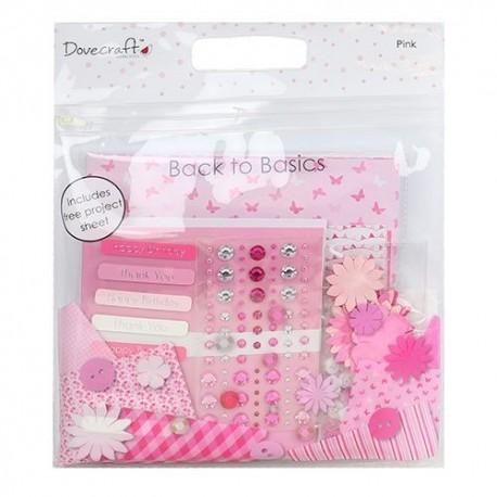 Goody Bag PINK para scrapbook distribuido por Artesanías Montejo