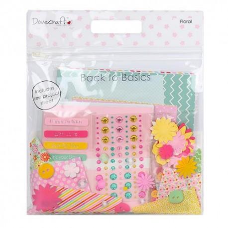 Goody Bag FLORAL para scrapbook distribuido por Artesanías Montejo