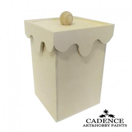 Caja tapa lágrima con pomo CADENCE distribuida por Artesanías Montejo