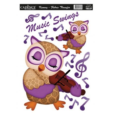 Transfer para TEJIDOS Buho Music
