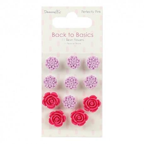 PERFECTLY PINK Flores de resina