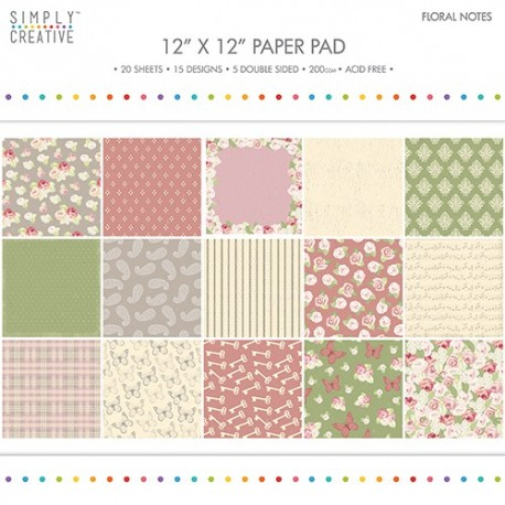 Simply Creative FLORAL NOTES 30x30
