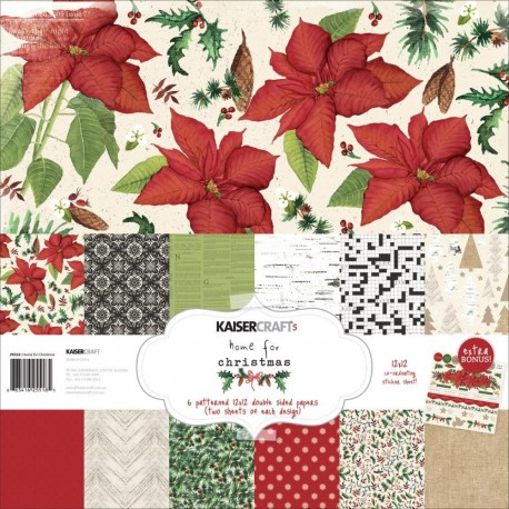 Papeles HOME FOR CHRISTMAS 30x30cm KaiserCraft