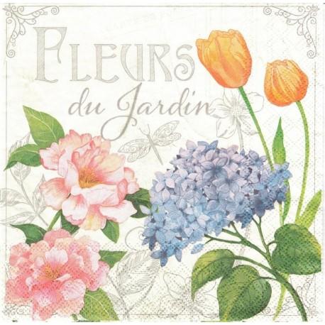 SERVILLETAS- Fleurs De Jardin