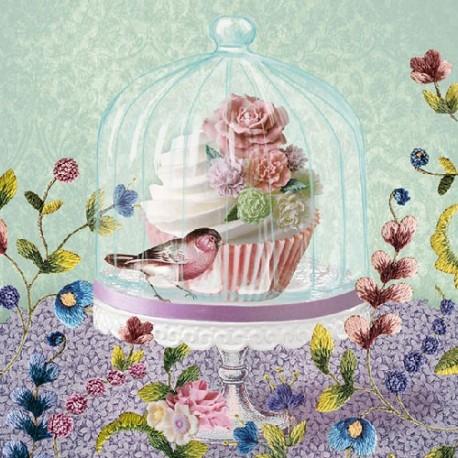 SERVILLETAS- Cupcake in Glass