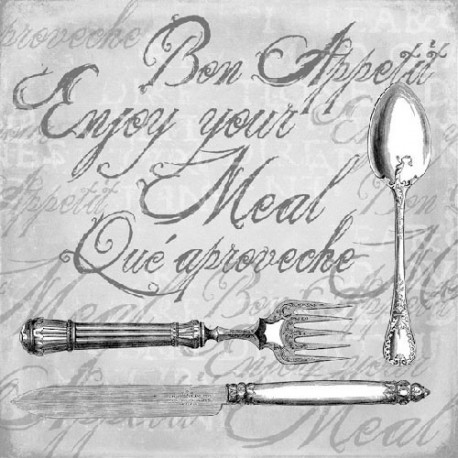 SERVILLETAS- Enjoy Your Meal Grey