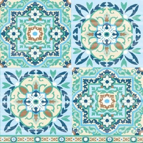 SERVILLETAS- Tiles Green