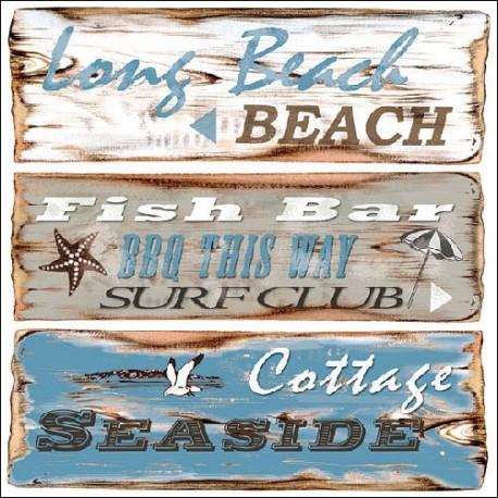 SERVILLETAS- Beach Signs