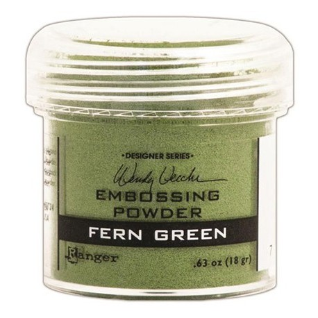 Polvo Embossing FERN GREEN Ranger