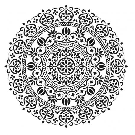 Stencil MANDALA 45x45cm