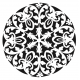 Stencil MANDALA 2  45x45cm