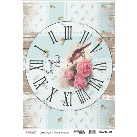 Papel de Arroz RELOJ SWEET BIRD