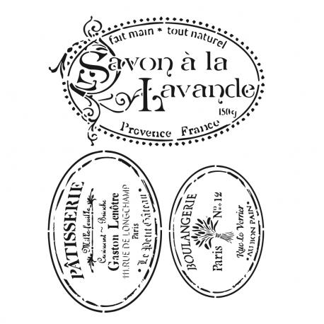 Stencil SAVON A LA LAVANDE 45x45cm