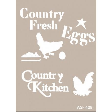 Stencil COUNTRY FRESH EGGS