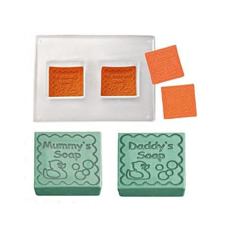 Molde para 2 jabones Mummy+Daddy