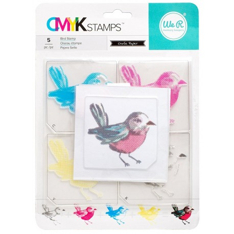 Sello CMYK Pájaro de WE R