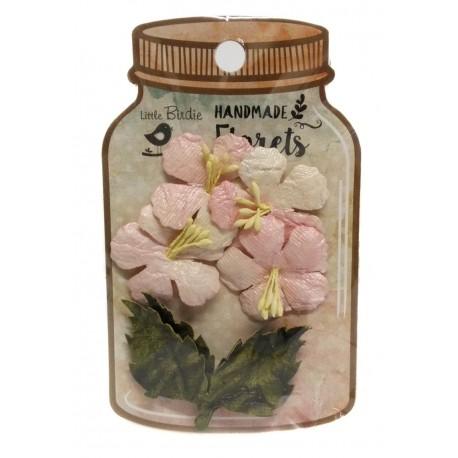Handmade Florets- HIBISCUS ROSAS flores de papel little birdie distribuidas por artesanías Montejo