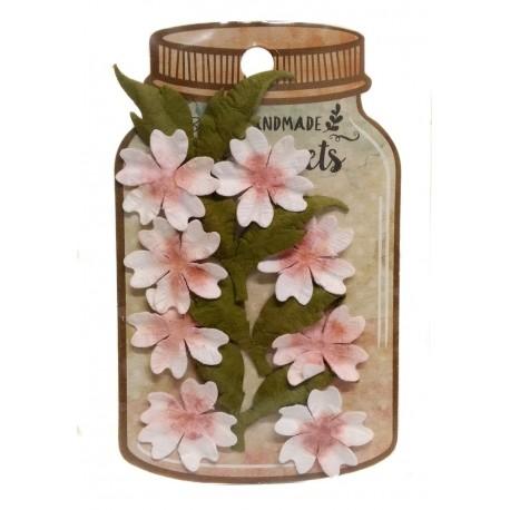 Handmade Florets- FLORES CEREZO Little birdie flores de papel distribuidas por Artesanías Montejo