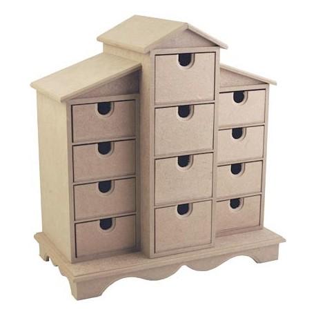 Caja Casita Cajones DM CADENCE 23x17x34