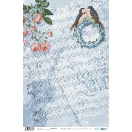 PFY Romantic Pastel & Bird 50x35