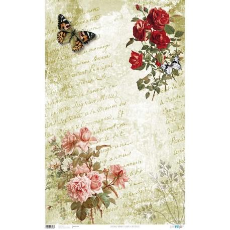 PFY Romantic Flower/Butterflies 50x80