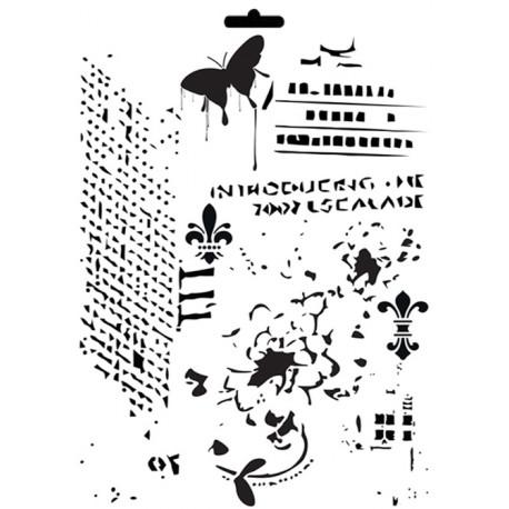 Stencil Mix Media MIX DE FONDOS