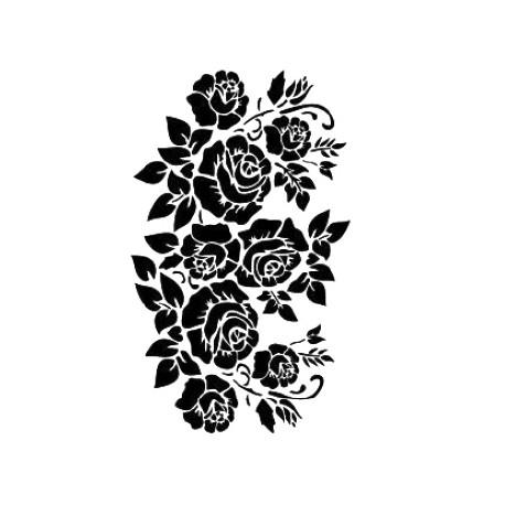 Stencil GRUPO DE ROSAS 21x30