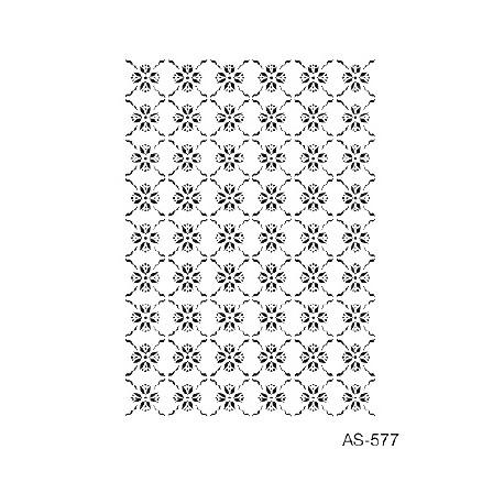 Stencil FONDO FLORES 21x30