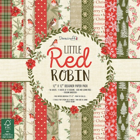 Littel Red Robin 30x30 papeles