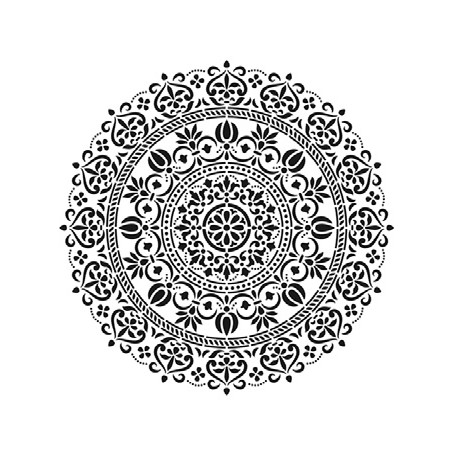 Stencil MANDALA 1 25x25cm