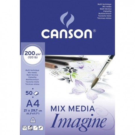 Cuaderno Mix Media Imagine A4 CANSON