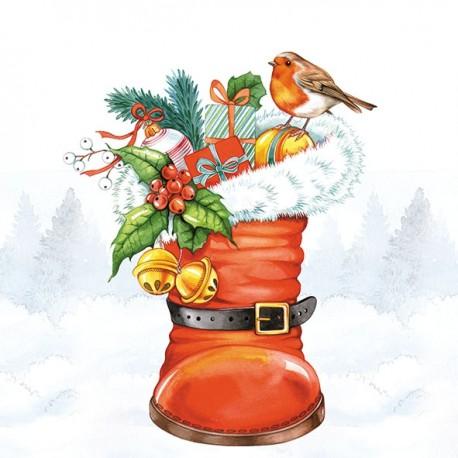 SERVILLETAS- Christmas Boot