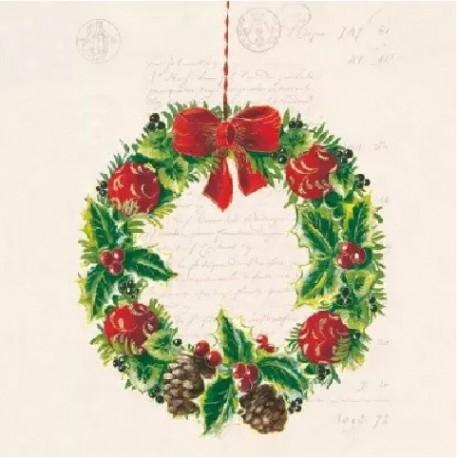SERVILLETAS- Christmas Wreath