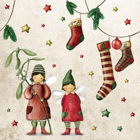SERVILLETAS- Christmas Fairies