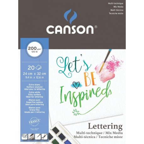 Cuaderno Multi Técnica Lettering CANSON