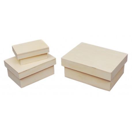 Juego 3 Cajas 18x14.7x7.5cm