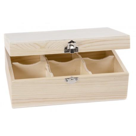 Caja Té 6 Divisiones 22x15x9cm