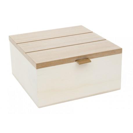 Caja Tapa Listones 16x16x8cm