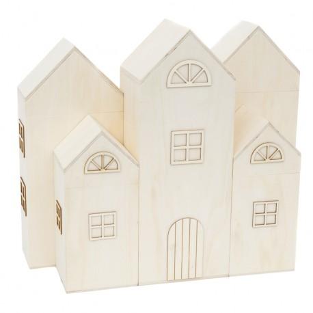 Set 5 Casitas caja 31.5x25.5x23.5cm