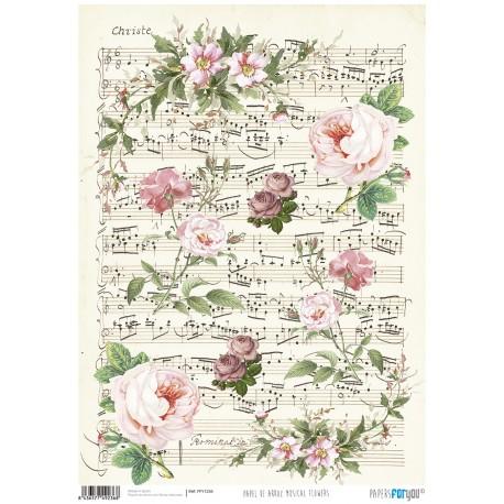 Papel de Arroz MUSICAL FLOWERS - PFY