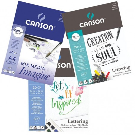 Oferta Cuadernos Lettering MixMedia CANSON