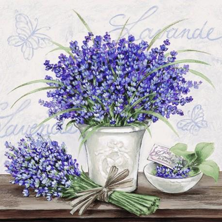 SERVILLETAS- Lavender Scene Cream