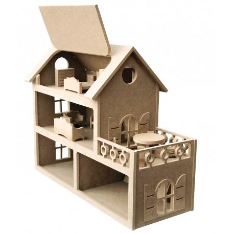 Casa Muñecas + Accesorios DM CADENCE 52x20x40cm