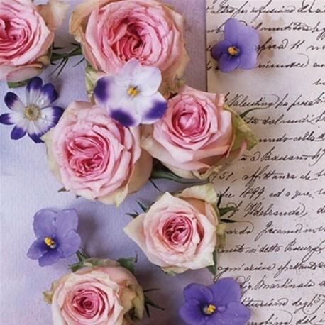 SERVILLETAS- Roses&Violets