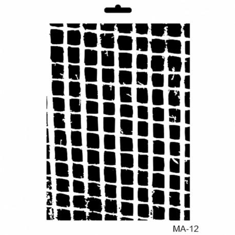 Stencil Mix Media CUADRADOS IRREGULARES