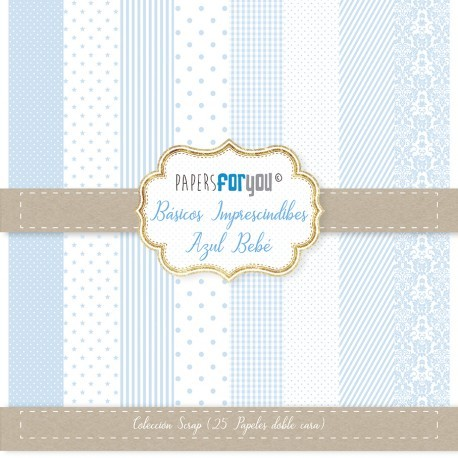 Paper For You MINI BÁSICO AZUL BEBÉ